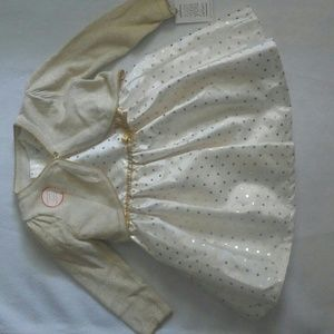 Carters Gold Occasion 3pc Dress 18 Months